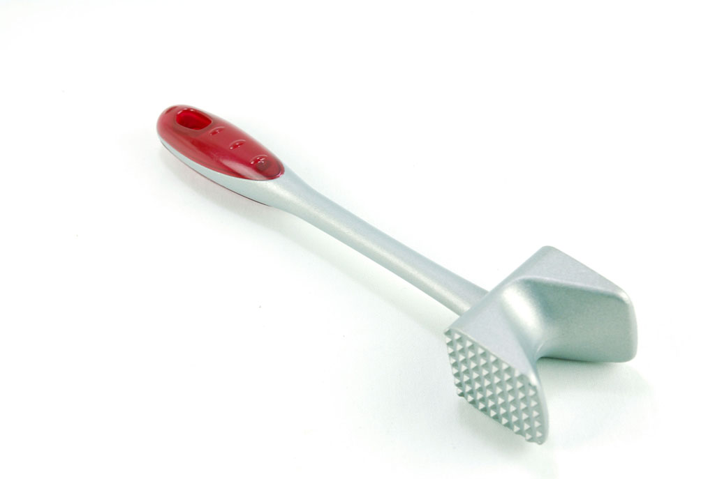 Aluminum V-meat hammer+ Plastic handle